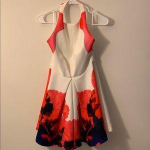 Keepsake Backless Floral Dress